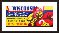 1938 Wisconsin Badgers Football Ticket Remix Art Picture Frame print