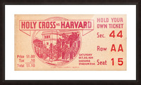 1934 Holy Cross vs. Harvard Picture Frame print