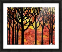 Abstract Fall Forest Picture Frame print