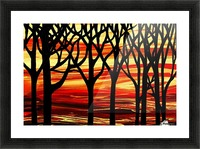 Indian Summer Abstract Forest Picture Frame print