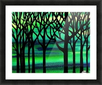 Abstract Spring Forest Picture Frame print