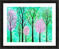 Spring Forest Picture Frame print