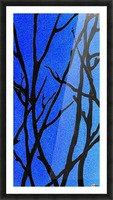 Ultramarine Forest Winter Blues I Picture Frame print