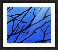 Ultramarine Forest Winter Blues II Picture Frame print