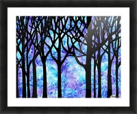 Frozen Forest Picture Frame print