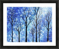 Winter In The Woods Abstract Picture Frame print
