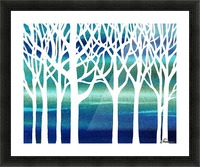 White And Teal Forest Picture Frame print