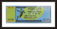 1955 Prairie View AM Panthers vs. Texas Southern Tigers Ticket Stub Art  Picture Frame print