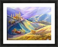 Moeciu landscape  Picture Frame print