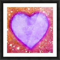 Vibrant Love Digital Art Collage Picture Frame print