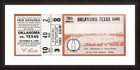 1983 Oklahoma Sooners vs. Texas Longhorns Picture Frame print