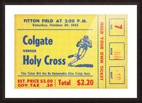 1943 Colgate vs. Holy Cross Picture Frame print