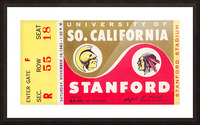1962 Stanford Indians vs. USC Trojans Picture Frame print
