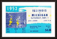 1952 Illinois vs. Michigan Football Ticket Stub Art Picture Frame print