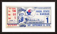 1970 Kansas Jayhawks vs. Washington State Cougars Picture Frame print