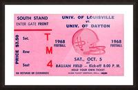 1968 Louisville Cardinals  vs. Dayton Flyers  Picture Frame print