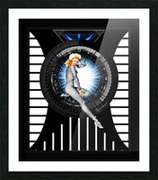 Sitting Pretty With Tech by Xzendor7 Digital Art Picture Frame print