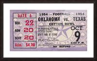 1954 Oklahoma Sooners vs. Texas Longhorns Picture Frame print
