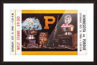1980 Purdue Boilermakers vs. Minnesota Golden Gophers Picture Frame print