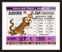 1986 Auburn Tigers vs. Chattanooga Mocs  Picture Frame print