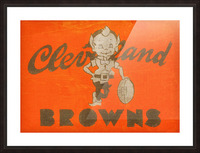 Vintage Cleveland Browns Wall Art Picture Frame print