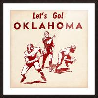 1952 Vintage Oklahoma Football Art Picture Frame print