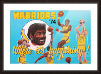 1974 Golden State Warriors Retro Remix Art Picture Frame print