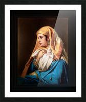 Contemplation by Belgian Painter Jean-Francois Portaels Classical Fine Art Xzendor7 Old Masters Reproductions Picture Frame print