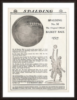 1921 Spalding Basketball Advertisement Poster Picture Frame print