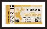 1956 Wisconsin Badgers vs. Minnesota Golden Gophers Picture Frame print