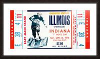 1974 Indiana Hoosiers vs. Illinois Fighting Illini Picture Frame print