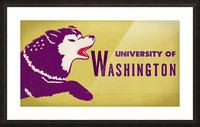1950 Washington Husky Ticket Remix Art Picture Frame print
