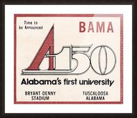 1981 Alabama Football Ticket Stub Art Picture Frame print