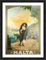 Original travel poster for Malta in 1900 Picture Frame print