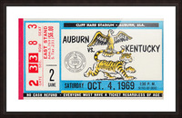 1969 Kentucky Wildcats vs. Auburn Tigers Picture Frame print