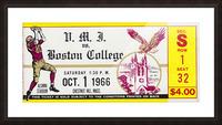 1966 VMI vs. Boston College Eagles Football Ticket Stub Art Picture Frame print