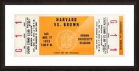 1973 Brown Bears vs. Harvard Crimson Picture Frame print