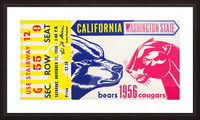 1956 Washington State Cougars vs. Cal Bears Picture Frame print