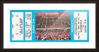 1985 Clemson Tigers vs. NC State Wolfpack Picture Frame print