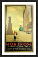 Montrose vintage travel poster Picture Frame print