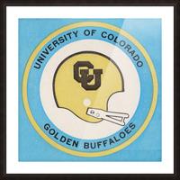 1973 Colorado Buffaloes Football Helmet Art Picture Frame print