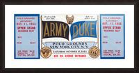 1953 Duke vs. Army Football Ticket Stub Art Picture Frame print