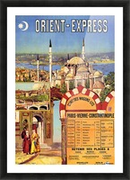 1891 Vintage Travel Poster Orient Express Ochoa y Madrazo Picture Frame print