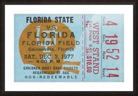 1977 Florida State vs. Florida Football Ticket Art Picture Frame print