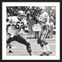 Retro Dallas Cowboys Roger Staubach Photo Art Picture Frame print