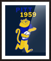 1959 Pitt Panther Vintage Football Art Picture Frame print