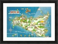 Daniele Pennisi vintage poster for Sicilia Picture Frame print