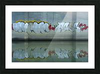 Reflet sous un pont - Reflection under a bridge Picture Frame print