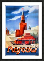 Imperial Airways travel poster for Moscow Picture Frame print