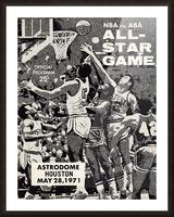 1971 NBA vs. ABA All-Star Game Program Art Picture Frame print